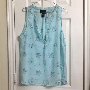 Cynthia Rowley - Light Blue Floral Blouse